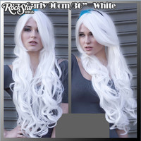 "Cosplay Wigs USA™  Curly 90cm/36"" - White -00336"