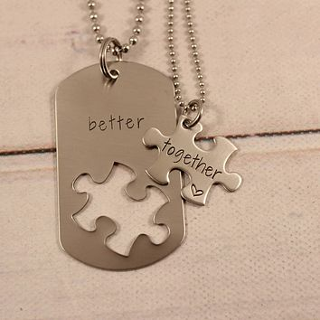 """Better Together"" puzzle piece set"