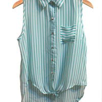 Mint Stripe Blouse from Insparel