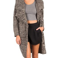 Double Collared Knit Cardigan