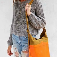 Hunter Moustache Bucket Bag- Brown/neon Orange One
