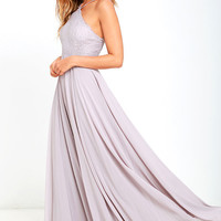 Everlasting Enchantment Grey Maxi Dress