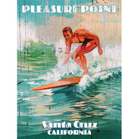 Personalized Surf California Wood Sign