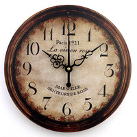 vintage large decorative wall clock home decor fashion silent 3d wall clock modern design antique wall decor living room watch
