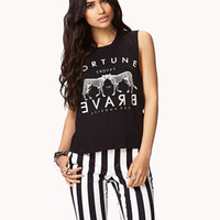 Mirrored Leopard Muscle Tee | FOREVER 21 - 2059616203