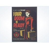 Disney Parks Hollywood Tower Hotel Bellhop Magnet Your Room is Ready New