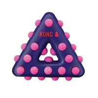 KONG Dotz Triangle Dog Chew Toy Size: Large