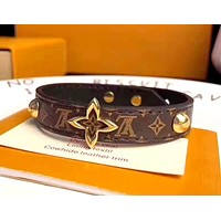 LV Simple Retro Classic Presbyopia Studded Leather Bracelet