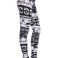 Black & White Dye Print Leggings