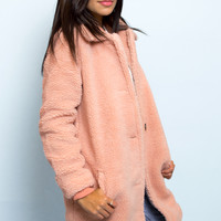 Mattan Cozy Pink Faux Fur Coat