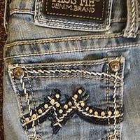 MISS ME JEANS RHINESTONES CLASSIC MISS ME WOMENS SIZE 25 SIZE 27 RARE!!!!