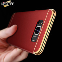 KISSCASE For Samsung S8 For Samsung Galaxy S8 Plus Case 3 in 1 Combo Plating Phone Cases For Samsung S8 Plus Hard Armor Cover
