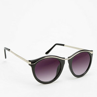 Curly Q Round Sunglasses - Urban Outfitters