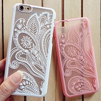 Boho Hollow Lace Flower Iphone Case Cover for 6 S Plus
