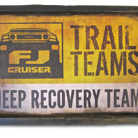 FJ Cruiser Trail Team Jeep Recovery Sign