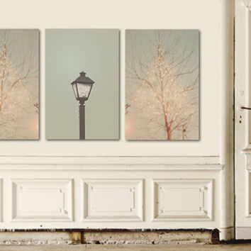 Surreal Bokeh FireFly Lights Limited Time Only Set of 3 8x10 Home Decor Fine Art Photography Prints Pink and Blue Home Decor, Discounted Set