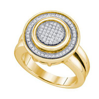 Diamond Micro Pave Mens Ring in 10k Gold 0.23 ctw