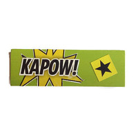 KAPOW fridge magnet GREEN Pop Art comic book gift ~ unique decor for any kitchen office man cave