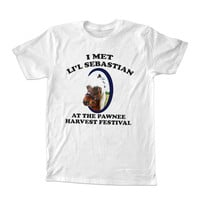 I Met Lil' Sebastian American Apparel For T-shirt Unisex Adults size S-2XL Black and White