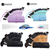 32pcs Makeup Brushes Set Professional Cosmetics Brush Eyebrow Foundation Shadows Kabuki Make Up Tools Kits + Pouch Bag