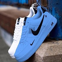 NIKE Air force 1 AF1 low-top printed letters sneakers Shoes