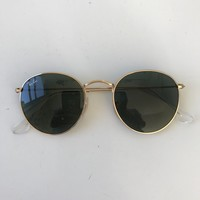 Ray Ban Round Sunglasses Black Authentic