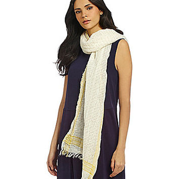 Eileen Fisher Printed Linen/Cotton Scarf - Soleil