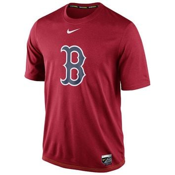 Nike Boston Red Sox Authentic Collection Logo Legend Dri-FIT Performance Tee - Men