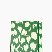 Set the Stage 17-month Large Agenda - Green Painterly Cheetah