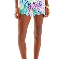 """5"""" Buttercup Scallop Hem Short - Let's Cha Cha - Lilly Pulitzer"""
