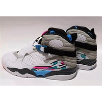 Air Jordan 8 AJ8 White/Gray/Blue