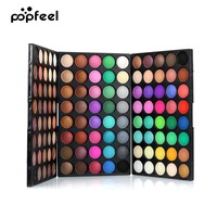 POPFEEL 120 Colors Gliltter Eyeshadow Palette Matte Eye Shadow Pallete Shimmer and Shine Nude Make Up Palette Set Kit Cosmetic