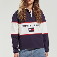 Tommy Jeans Colorblock Rugby Shirt | Urban Outfitters