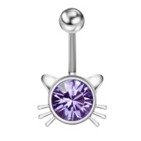 Swarovski Element Crystal Belly Button Navel Ring