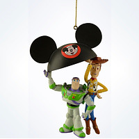 Disney Parks Buzz and Woody with Ears 3D Ornament New With Tag