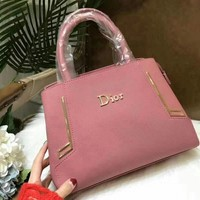 Dior Women Fashion Leather Satchel Tote Shoulder Bag Handbag
