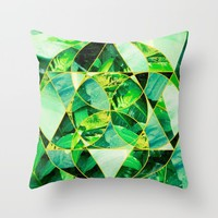 Hawaiian Jungle Abstract Mosaic Throw Pillow by Raw Sugar