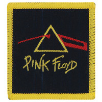Pink Floyd Men's Prism Red Woven Patch Yellow