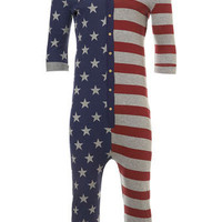 3/4 Star And Stripe Onesuit - Winter Warmers  - Holiday Shop