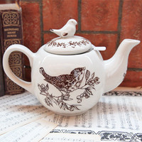 birds of a feather ceramic teapot - $34.99 : ShopRuche.com, Vintage Inspired Clothing, Affordable Clothes, Eco friendly Fashion