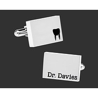 Dentist Personalized Cuff Links   Dentist Gift
