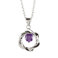"Cate and Chloe Connie ""Constant"" Open Circle Pendant Necklace"