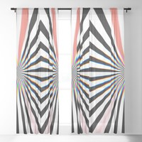Hypno Sheer Curtain by duckyb