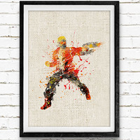 Star-Lord Poster, Guardians of the Galaxy Watercolor Art Print, Kids Room Wall Art, Home Decor, Gift, Not Framed, Buy 2 Get 1 Free!