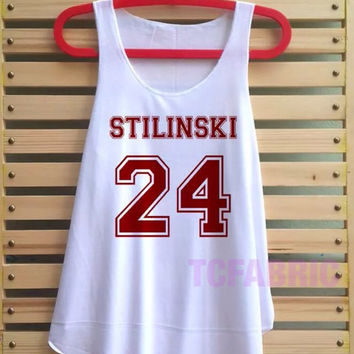 Stiles Stilinski shirt Tank Top Teen wolf tshirt loose fit Clothing Vest Sleeveless hipster tumblr tee - Size S M L