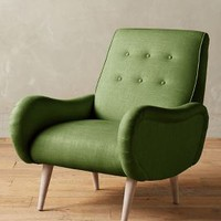 Linen Losange Chair by Anthropologie