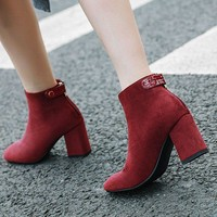 Autumn Winter Warm Women Booties