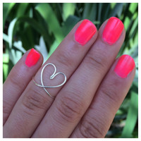 Silver Heart Knuckle Ring