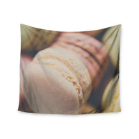 """Laura Evans """"Macaroon Goodness"""" Pastel Food Wall Tapestry"""