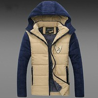 High Quality Fashion Men Winter Coat Thickened Men Jacket Male Winter Clothes 2 Colors M L XL XXL